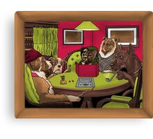 Dogs Playing Dungeons & Dragons Canvas Print