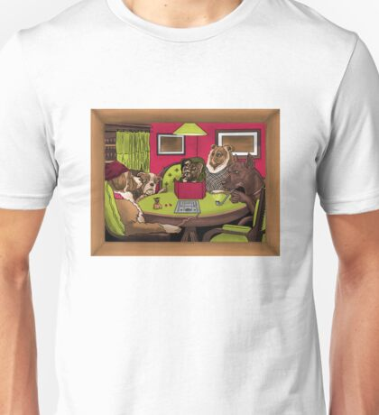 Dogs Playing Dungeons & Dragons Unisex T-Shirt