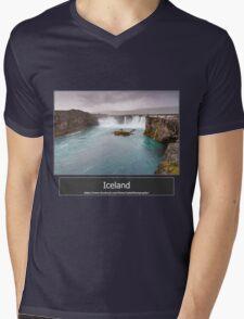 Iceland Mens V-Neck T-Shirt