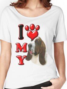 I Love My Bassett Hound Women's Relaxed Fit T-Shirt