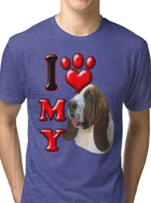 I Love My Bassett Hound Tri-blend T-Shirt