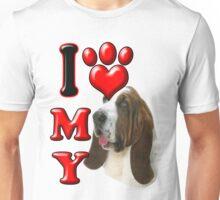 I Love My Bassett Hound Unisex T-Shirt