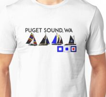 PUGET SOUND WASHINGTON SAILING YACHTING YACHT SAIL BOAT SEATTLE 2 Unisex T-Shirt