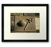 scallop shell symbol, Santiago de Compostela , Spain  Framed Print