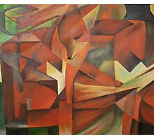"""""""Foxes"""" -  Homage to Franz Marc (1913)     Photographic Print"""