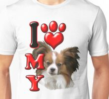 I Love My Papillon Unisex T-Shirt