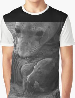 Mother And Baby Elephant Seals Graphic T-Shirt