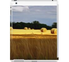 The Color of Straw abstract landscape by Alma Lee iPad Case/Skin