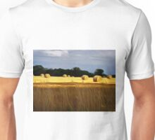 The Color of Straw abstract landscape by Alma Lee Unisex T-Shirt