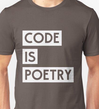 Code is Poetry Unisex T-Shirt