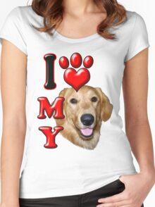 I Love My Golden Retriever Women's Fitted Scoop T-Shirt