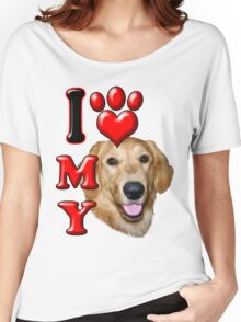 I Love My Golden Retriever Women's Relaxed Fit T-Shirt