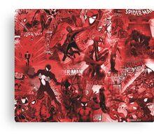 Spider Comic MashUp Canvas Print
