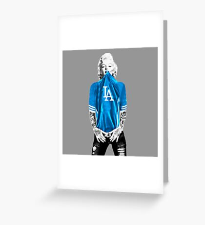 Marilyn Monroe For L.A Dodgers Greeting Card