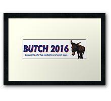 Butch the Donkey 2016 Framed Print