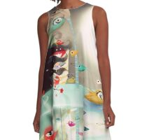 Light and transparency illustration underwater  A-Line Dress