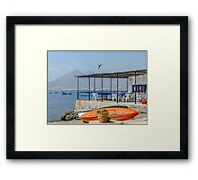 Terrace in La Isleta Framed Print