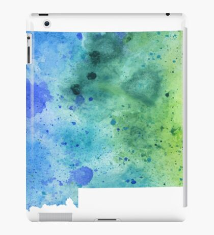 Watercolor Map of Montana, USA in Blue and Green iPad Case/Skin