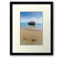 Rock in the Mojacar Beach Framed Print