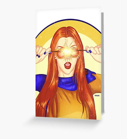 Jean Grey Mocking Cyclops Greeting Card