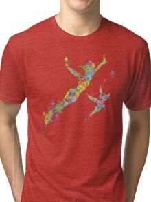 Peter Pan and Tinker Bell Watercolor Tri-blend T-Shirt