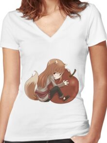 Holo - Spice & Wolf Women's Fitted V-Neck T-Shirt