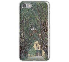 Gustav Klimt - Avenue Of Schloss Kammer Park iPhone Case/Skin