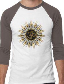 Sun Sparkle Mandala #1 Men's Baseball ¾ T-Shirt