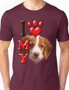 I Love My Brittany Spaniel Unisex T-Shirt