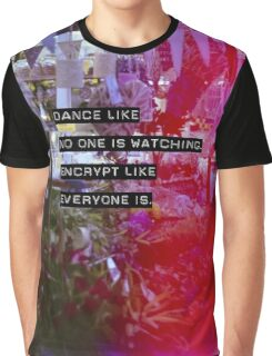 Encrypt like everyone is watching (colour BG) Graphic T-Shirt