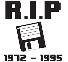 R.I.P. Floppy Disk Photographic Print