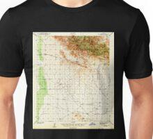 USGS TOPO Map Arizona AZ Dos Cabezas 314544 1943 62500 Unisex T-Shirt