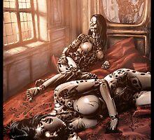 Cyberpunk Painting 033 by Ian Sokoliwski