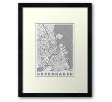 Copenhagen Map Line Framed Print