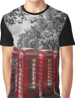telephone booths, london #1212 Graphic T-Shirt