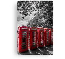 telephone booths, london #1212 Canvas Print