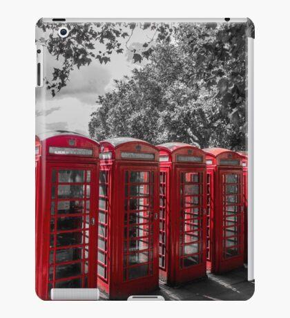 telephone booths, london #1212 iPad Case/Skin