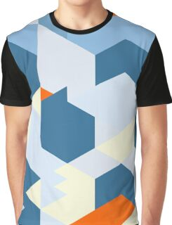 Geometric abstract minimal art shapes pattern Graphic T-Shirt