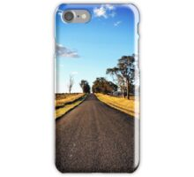 A rural road to nowhere iPhone Case/Skin