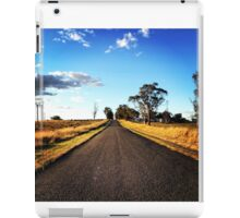 A rural road to nowhere iPad Case/Skin