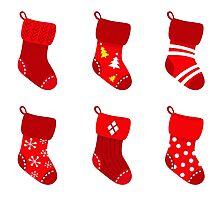 Cute Christmas Socks set Photographic Print