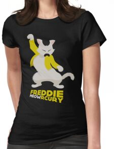 Freddie Meowrcury Womens Fitted T-Shirt