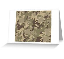 Military Camouflage Greeting Card