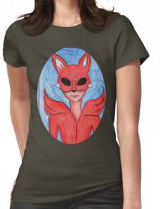 Fox Mask Womens Fitted T-Shirt