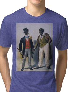 Performing Arts Posters Two performers in blackface facing each other one in tuxedo other in suit 2845 Tri-blend T-Shirt