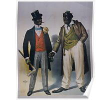 Performing Arts Posters Two performers in blackface facing each other one in tuxedo other in suit 2845 Poster