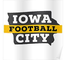 Iowa City Football Poster