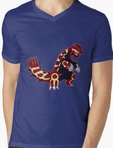 Pokemon - Primal Groudon Mens V-Neck T-Shirt