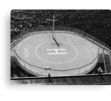 Ship Helicopter Pad Canvas Print