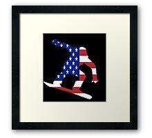 Snowboard USA Framed Print